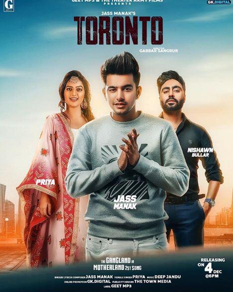 Toronto Jass Manak, Priya mp3 song lyrics